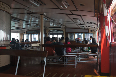 Top deck of star ferry