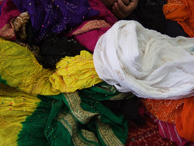 Bandhej style of fabric