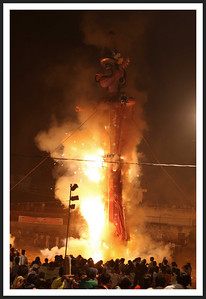 Effigy burning, the grand finale