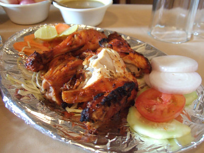 Half order of tandoori chicken at Pindi